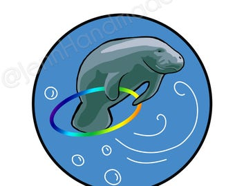Hooper Manatee Sticker