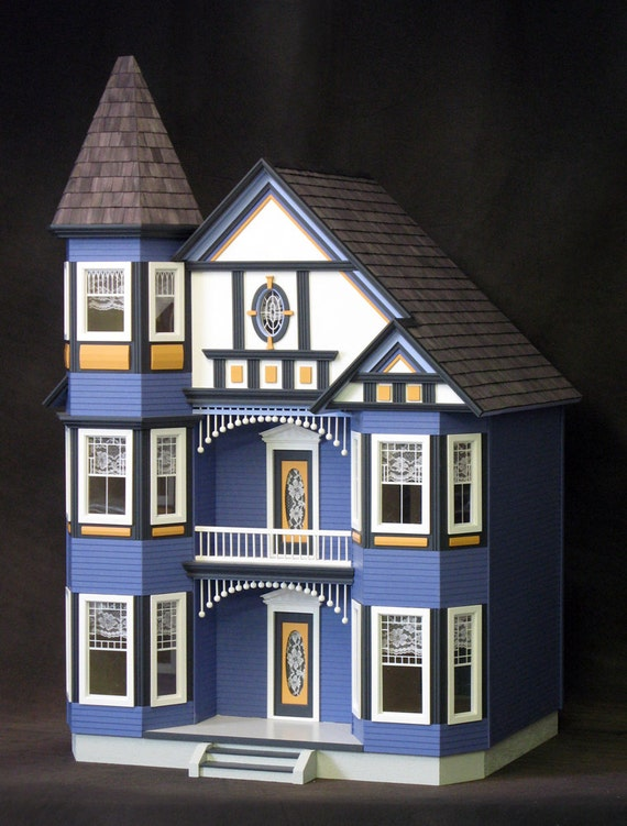 Genevieve The Great Painted Lady Victorian Wooden Dollhouse