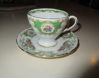 ENGLAND EB FOLEY Teacup and Saucer Set
