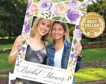 Wedding Photo Prop Frame - Bridal Shower Photo Prop - Darling Flora - Props - DIGITAL FILE - Creative Union Design - Print Option Available
