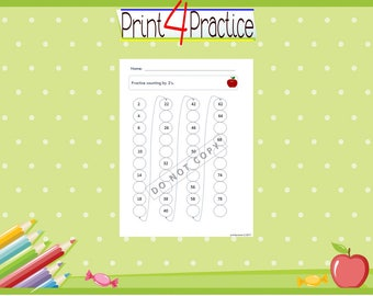 skip counting, kindergarten worksheets, practice worksheets, counting worksheets, counting, kid worksheets