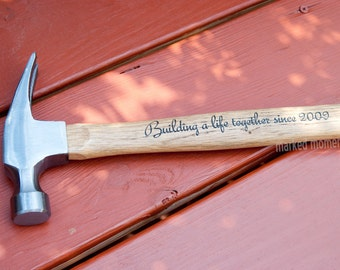 The #1 Gift for Father's Day in 2015 - Personalized Engraved Hammer with Custom Message For Dad - Up to 13 words, engrave both sides