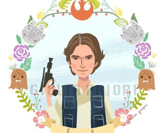 STAR WARS Han Solo and Chewbacca  Floral print SET