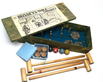 Table Croquet Box Set Bussey's England c1890