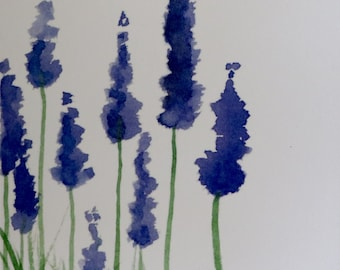 "4""x6"" Lavender Watercolor Print"