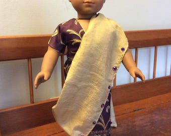 Sari made for an 18 inch doll such as American girl and the like size