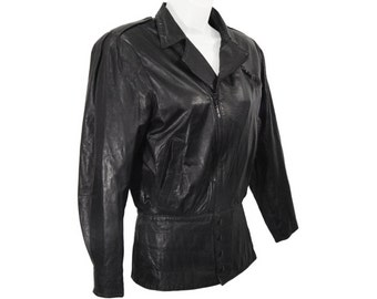 Vintage Leather Jacket, North Beach Leather, Avant Garde New Wave, Vintage Early 1980s