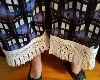 Police Box bedspread fringe tassle Bloomers for Doctor Who lovers