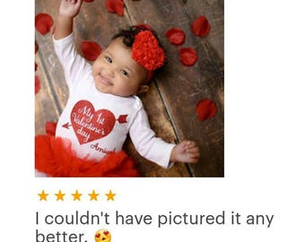 Valentine's Day Ruffled Chiffon Heart in the Color of Your Choice - Available on a Headband or a Hair Clip - Baby Girl Valentine Headbands