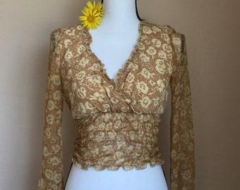 90s vintage crop blouse