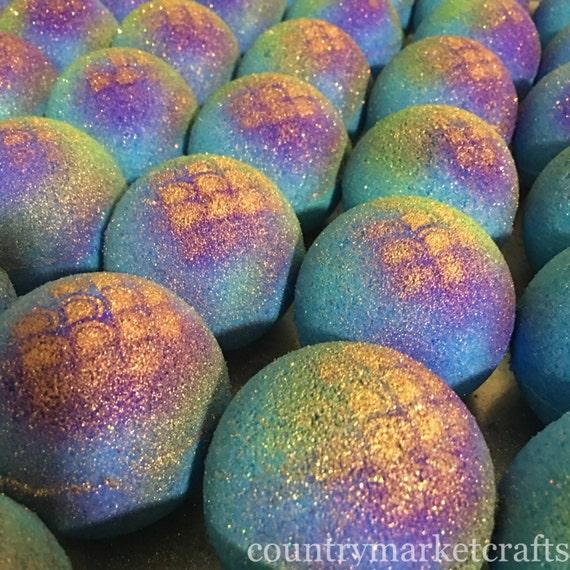bath bombs. Mermaid Bath Bombs Natural Handmade Bomb Fizzy