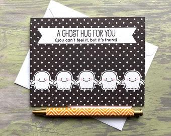 Halloween Card - Halloween Greeting Card - Halloween Ghost - Ghost Card - Ghost Halloween Card - Cute Halloween Card - Cute Ghosts