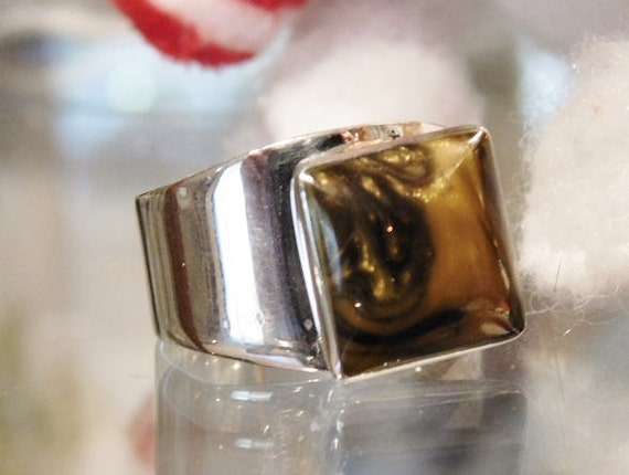 Tigers Eye Ring / Mexican Sterling Silver