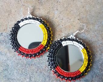 Medicine Wheel Beaded Earrings