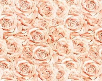 Roses Peach, I Do by Dan Morris for Quilting Treasures