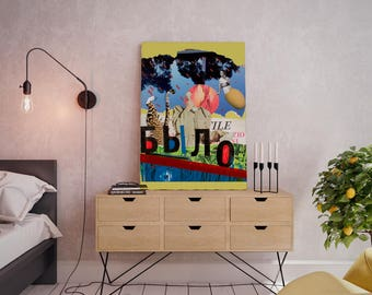 Wall art collage canvas print image - It Was