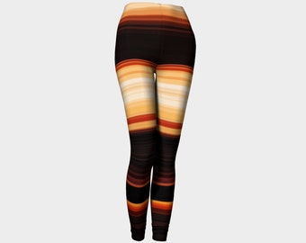 70's love leggings, retro leggings, rugby leggings, vintage leggings, spring leggings, yoga leggings, plus size available