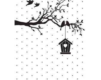 """Embossing workbook """"bird"""" 10.6 x 15 cm_EFE020"""