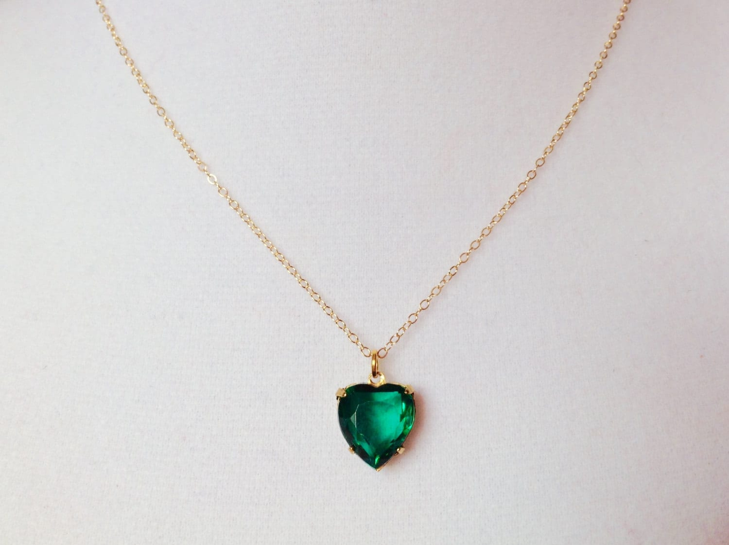 Emerald necklace emerald heart necklace beautiful jewelry zoom aloadofball Images