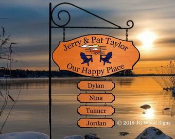 Sunset Chairs Etsy - Lake Family Name Sign Cedar with Sign Holder option  JG Wood Signs Etsy Family Camping Sign Beach Sign Lake Sign Taylor