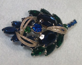 Blue and Green Vintage Brooch