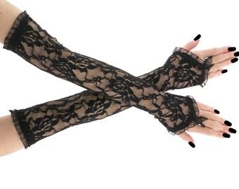 Bridal gloves, fingerless gloves, long gloves, wedding gloves, arm warmers, gloves wedding, lace gloves, ivory gloves, women bride 1100E