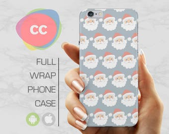 Father Christmas Santa Phone Case - iPhone 7 Case - iPhone 8 Case - iPhone 6, 5S, 5, SE Cases - Samsung S8, S7, S6 Case - Xmas Gift - PC-275