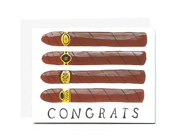 Congrats Cigars Card
