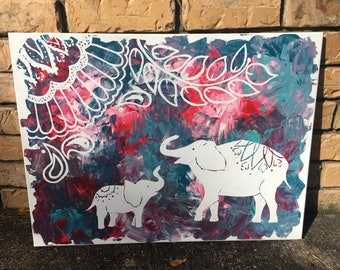 Fun Elephant Pallette Painting
