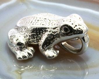 Frog, pendant, 925 sterling silver, electroforming - 3036