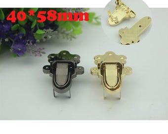 10--500sets 58*40mm Victory fashion Design  gold  ,silver,gun-metal color turn lock bag closure  , bag twist lock wholesale  ks-660