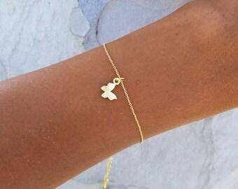 Butterfly Bracelet, Butterfly Jewelry, Gold Butterfly