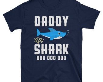 Daddy Shark Shirt, Daddy Jaws Tshirt, Baby Shark T-shirt, Shark Family Tee, Funny Shark Shirt