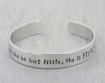 Personalized Cuff Bracelet - Custom Cuff Bracelet - She Believed She Could So She Did - Hand Stamped Bracelet - Inspirational Bracelet