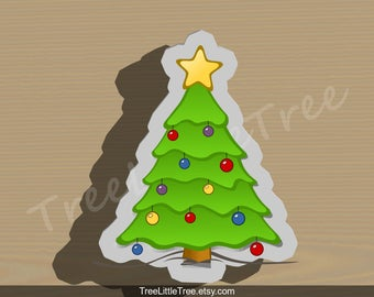 Christmas Tree with Star Cookie Cutter. Christmas Cookie Cutter. 3D Printed. Baking Gifts. Custom Cookies.