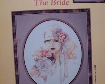 The Bride 1920s flapper style cross stitch pattern Lanarte designs by Stoney Creek
