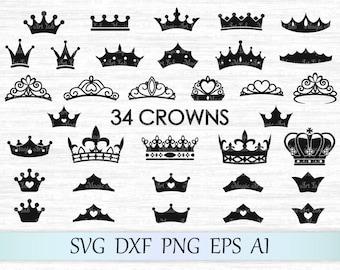 Crown svg file, Tiara svg, Crown vector, Crown cut, Princess crown svg, King crown svg, Crown clipart, Queen crown cricut, Crown silhouette