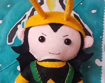 Loki God of Mischief inspired  felt plushie plush