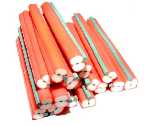 Pretty polymer clay cane Apple no. 2