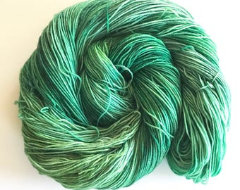 Malachite Hand Dyed Worsted Weight Yarn for Knitting or Crochet
