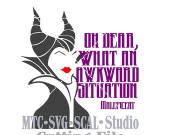 SVG Cut File Maleficent and Quote 01 MTC SCAL Silhouette Cutting Files