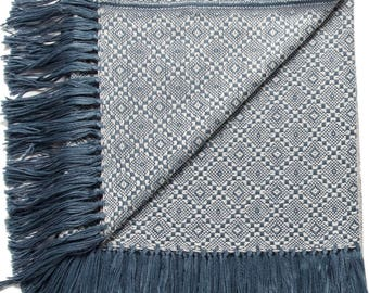 Pacific Blue Alpaca Blend Throw Blanket