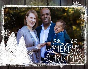 Photo Christmas Card - Digital File (Merry Christmas 1)