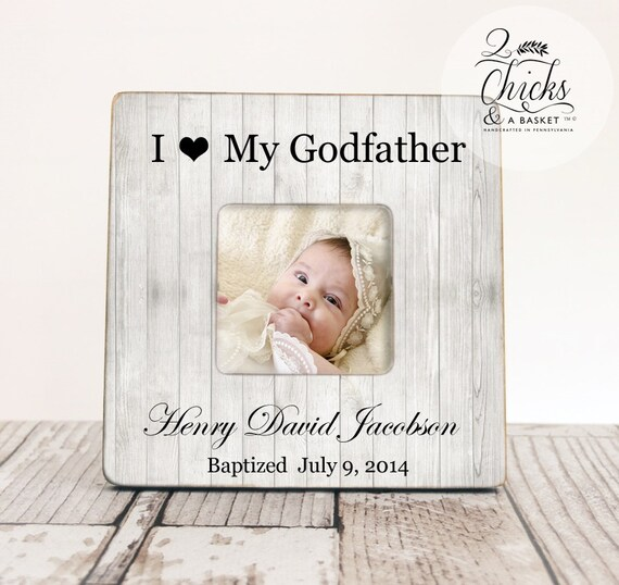 Godparent Gift, Personalized Christening Picture Frame, Godfather ...