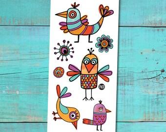 Temporary Tattoos - The funny birds