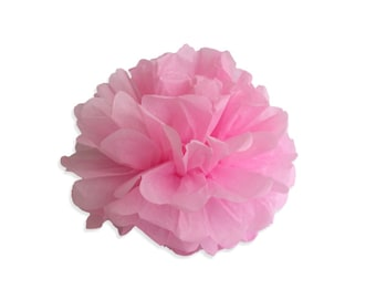 10 Inch Pink Tissue Pom Poms - Paper Party Decor Decoration Supplies