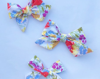 Handmade Hand Tied Floral Bow