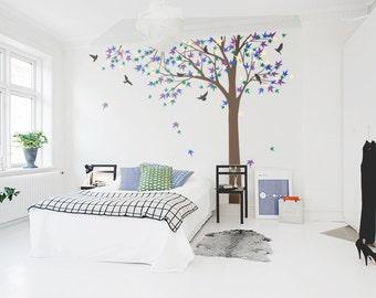 Large Maple Leaf Tree Vinyl Wall Decal-Tree Wall Sticker