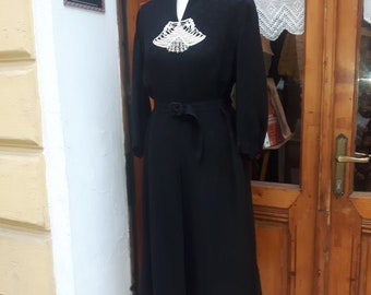 1940s black dress size aprox. 40