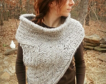 Post-Revolution Hunting Cowl with Vest - Knitting Pattern only